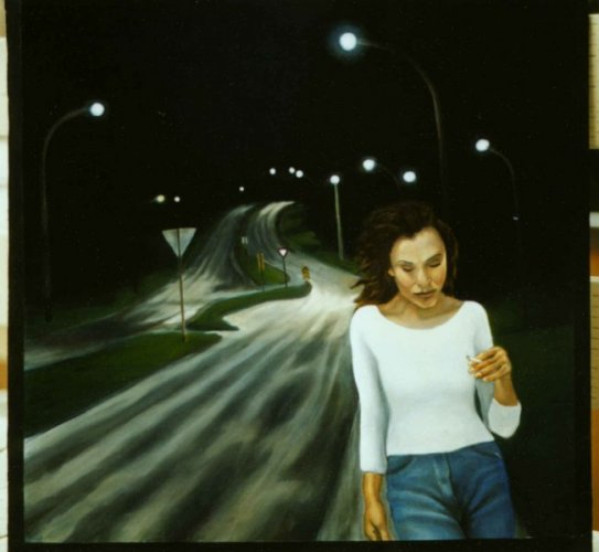 Long Walk, oil on masonite, 1992