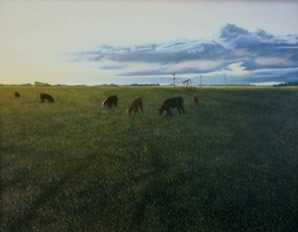 Pastoral, oil on masonite, 1995