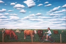 Riding the Fence, oil on canvas, 1996