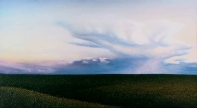 Western Sky, oil on masonite, 1996