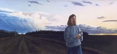 As Tears Go By, oil on masonite, 1995