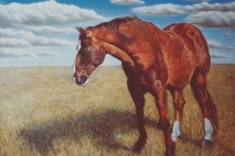 King, oil on masonite, 1993