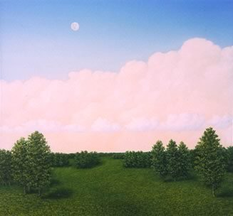 First the Sun and Then the Moon, Oil on masonite, 1998