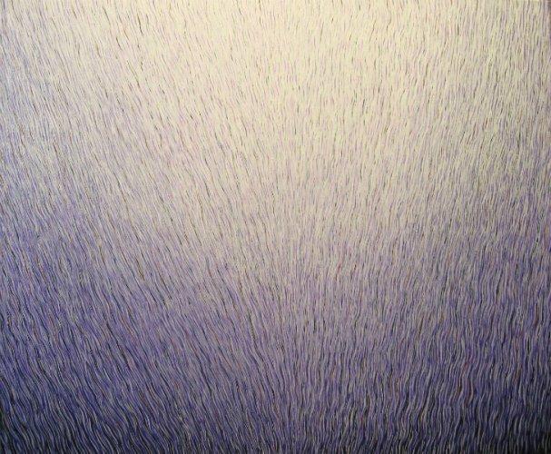 "Filaments,  30\"" x 36\"", acrylic on canvas, 2011"